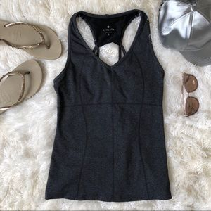 Heathered gray Athleta tank top with support sz. S